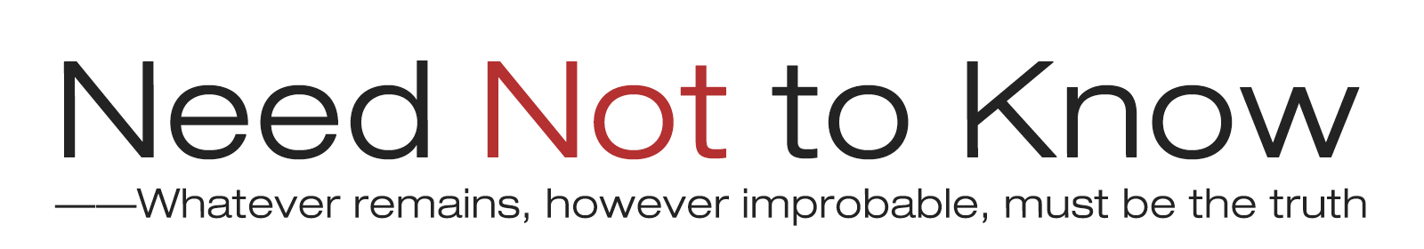 Need Not to Know logo